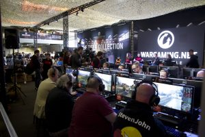 Gamers playing at Tankfest