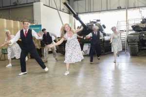 1940s dancers performing at Tankfest