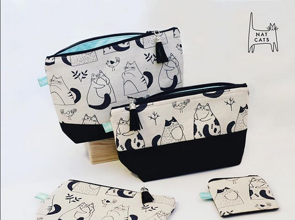 NATCAT illustration displayed on products.