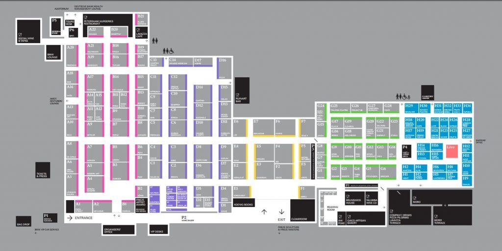 Map of Frieze London 2017