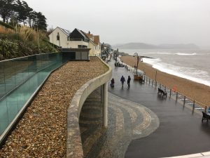 Site meeting at Lyme Regis in winter