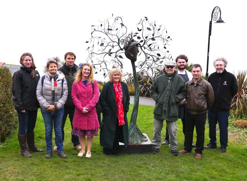 Langmoor Gardens sculpture in Lyme Regis