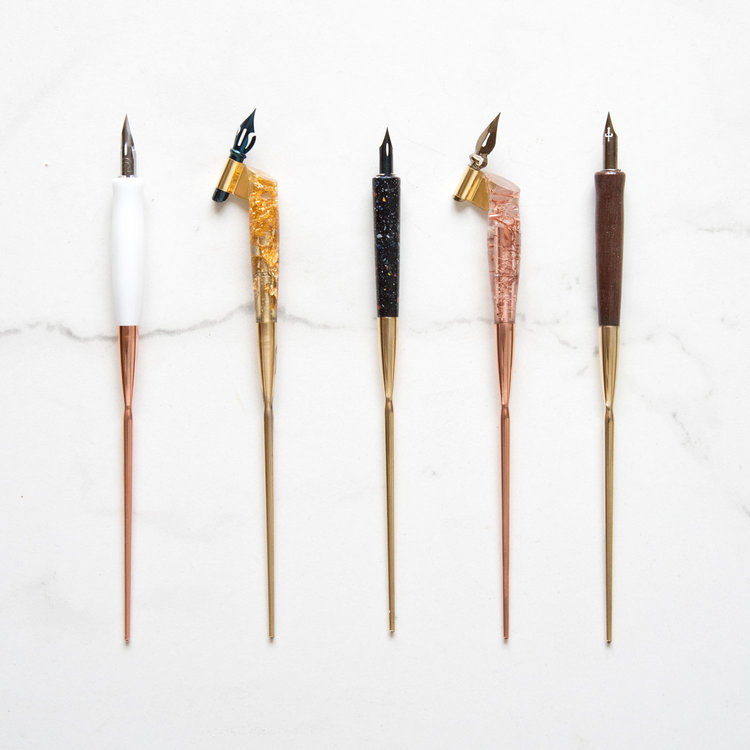A selection of calligraphy pens designed by Tom Gyr