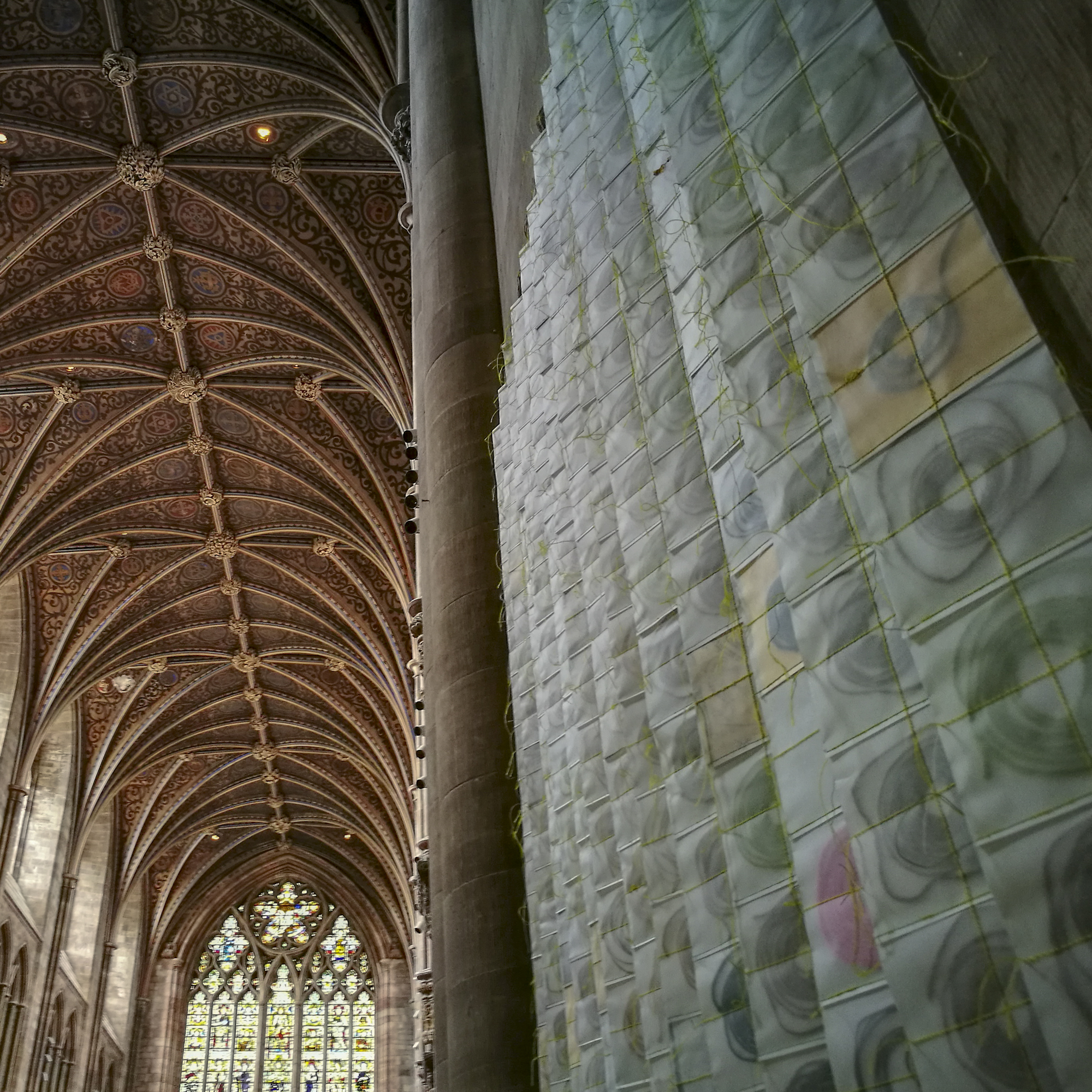 Re-Making Maps installation at Hereford Cathedral by Michelle Rumney