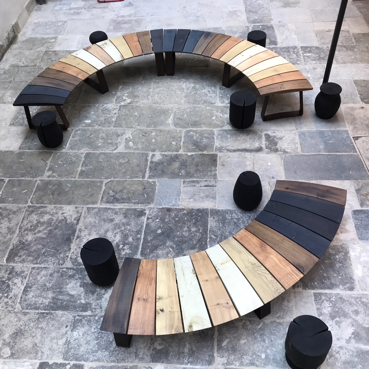 Bench And Stools Created By Alice Blogg For LSI Bridport Using Dorset  Timber As Seen Being Felled In The Contemporary Dorset Makers Short Film.