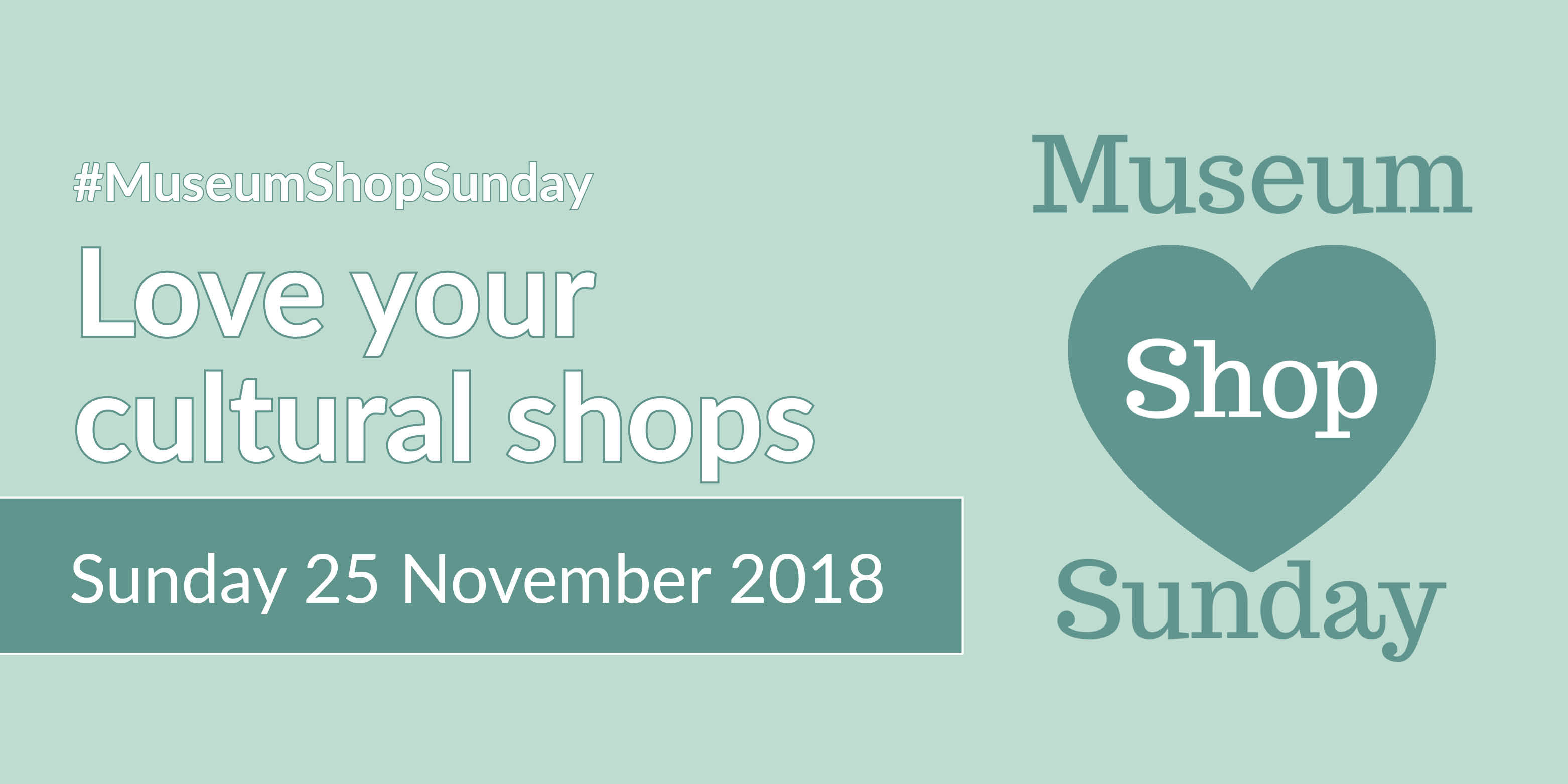 Museum Shop Sunday image that can be used by any venue taking part to help promote their event