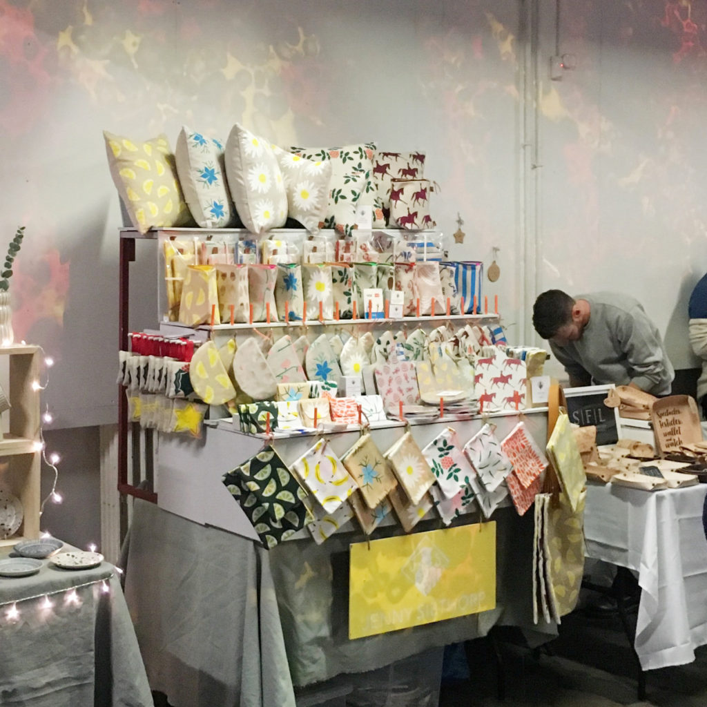 Jenny Sibthorp's stall at Crafty Fox Market, Peckham.
