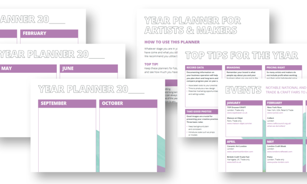 Year Planner for Artists and Makers
