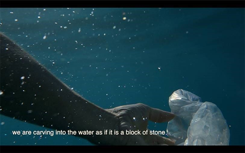 Still from the moving image project PlasticWaterStone by Anna Best.