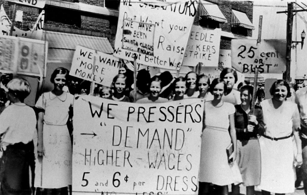 The 1908 garment strike which led to the first women's day in 1909