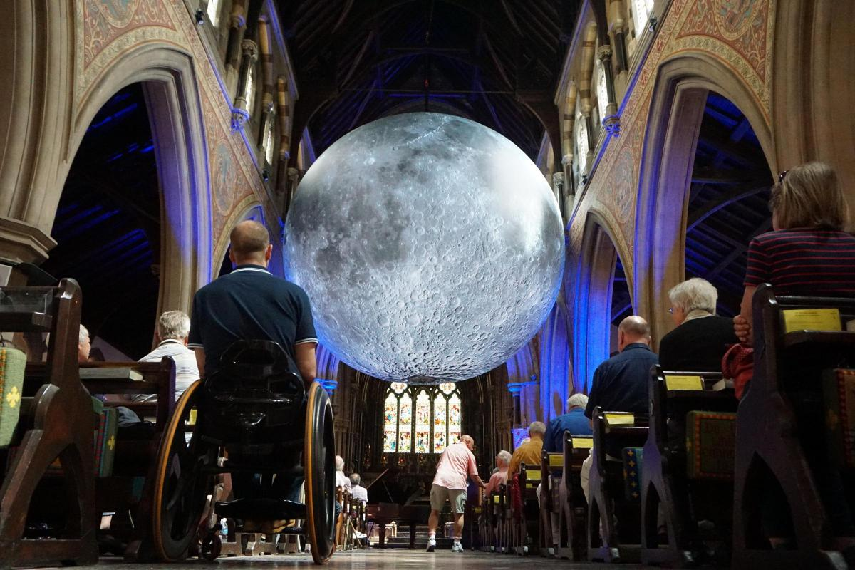 Luke Jerram's Museum of the Moon at St Peter's Church Bournemouth