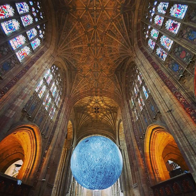 Dorset Moon ft. Luke Jerram's Musueum of the Moon in Sherborne Abbey